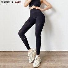 Женские спортивные Леггинсы с высокой талией сексуальные штаны
