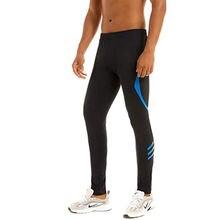 Мужские компрессионные брюки трико для бега Леггинсы йоги с