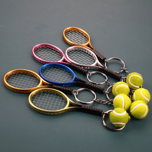 Keyring Tennis-Racket-Pendant Keychain for Teenager-Fan Ring-Finder Holer-Accessories