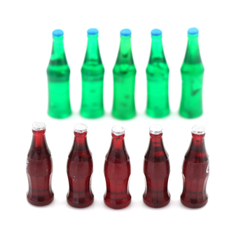 1/2/3/4/5/6/10PCS Mini Water Bottles Dollhouse Miniature Doll Food Kitchen Living Room Accessories Kids Gift Pretend Play Toys 1