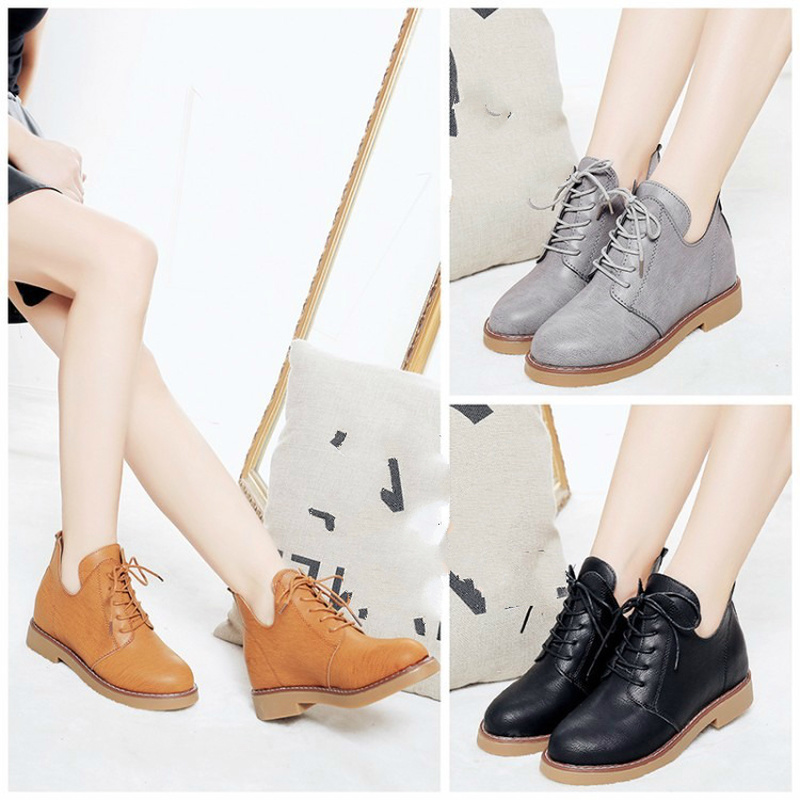2019 Hot Sale Women Casual Leather Shoes Summer Lace Up Breathable Female Shoes Fashion Women Sneakers Trainers Shoes U8-12