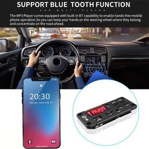 Image 4 - Kebidu Senza Fili 12V Automobile Scheda di Decodifica Auto Bluetooth MP3 WMA USB/SD/FM/AUX Audio Piastra modulo di Schermo a Colori Auto MP3 Altoparlante