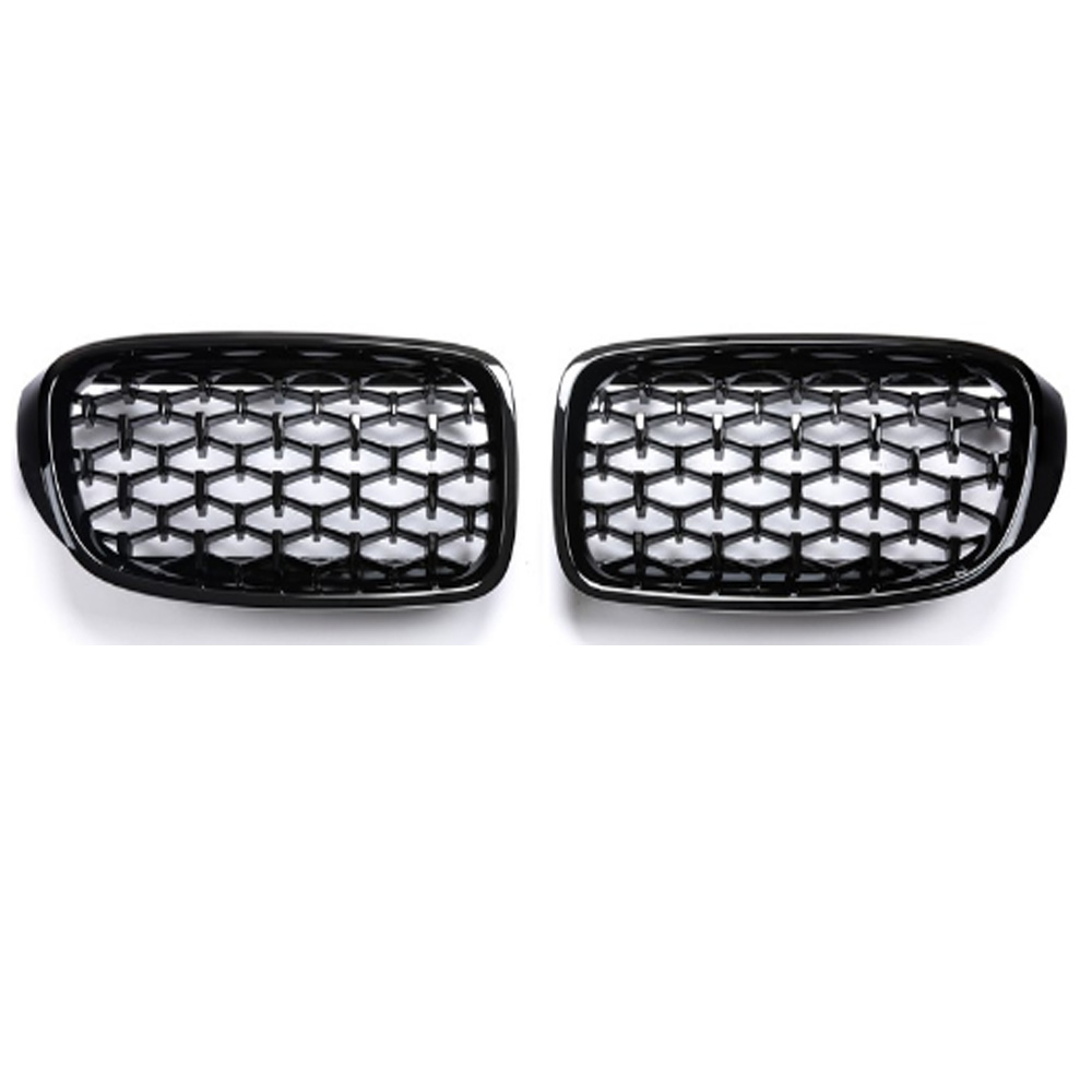 Image 2 - 3 Series GT F34 Diamond Racing Grills Front Kidney Grille Bumper 2013 2019-in Racing Grills from Automobiles & Motorcycles