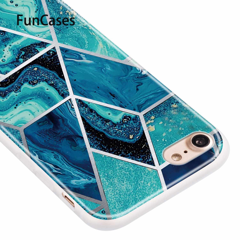 """Glitter Casi Per coque iPhone 7 Plus Sensazione Metallica Guscio di Silicone Morbido sFor Capa Apple iPhone etui 8 Più di 5.5 """"7 Della Copertura posteriore"""