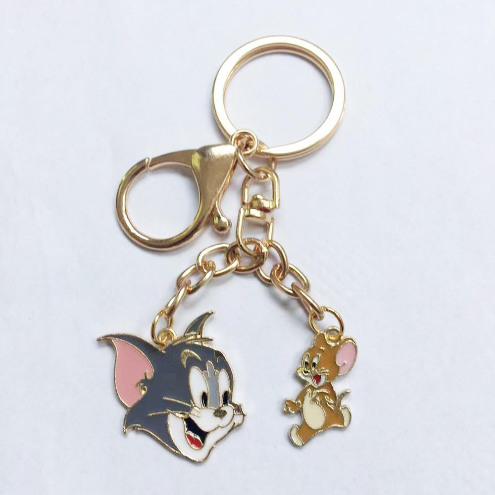 Occident Anime Tom Jerry Key Chain Cosplay Cartoon Cat Mouse Animal Funny Cute Personality  Souvenir Fashion Keychain