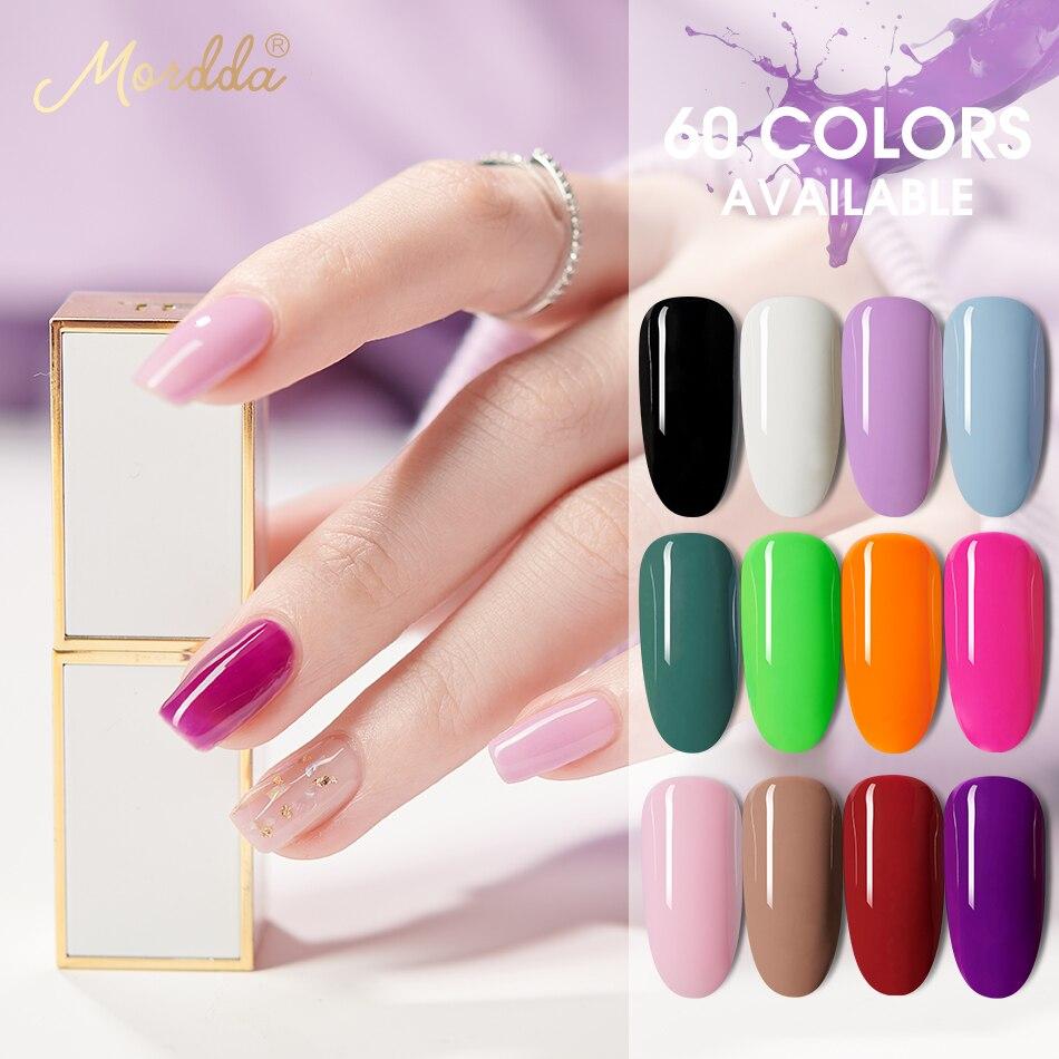 MORDDA 5 ML Gel Polish For Nail Art DIY Design UV LED 60 Colors Nail Varnish Hybrid Long-Lasting Gel Lacquer Manicure Tools