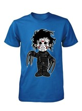 Edward Jason Masker Scissorhands Lucu Mash Up Anak T Shirt 3-15 Tahun(China)