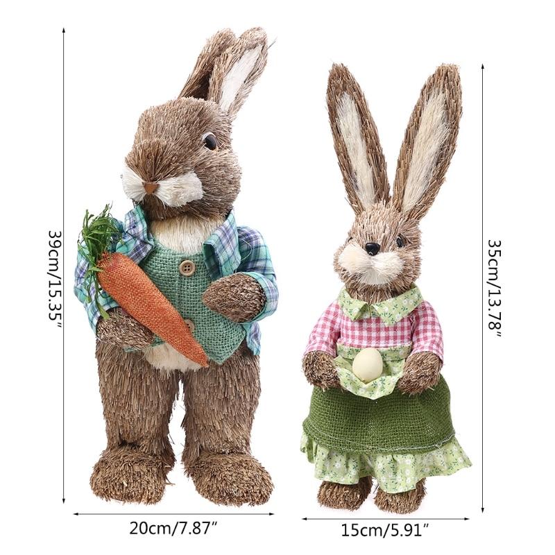 Новинка 2021 г., милые соломенные кролики, украшения в виде кролика для пасхальвечерние НКИ, дома и сада, свадебное украшение, реквизит для фот...