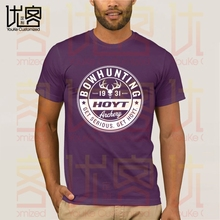 HOYT Bowhunting Seal Decal t shirt Summer Clothes Popular Shirt Cotton Tees Amazing Short Sleeve Unique Men Tops