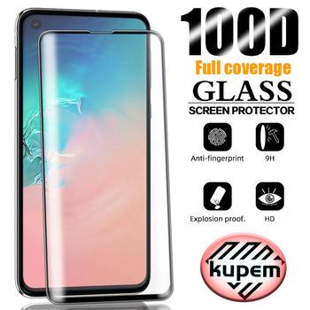 100D ochraniacz ekranu do Samsung Galaxy Note 20 Ultra S20 Plus szkło hartowane do Samsung S8 Plus S9 S10 E uwaga 10 9 8 chroń tanie i dobre opinie Kupem Jasne TEMPERED GLASS CN (pochodzenie) Przedni Film Black Transparent 0 23mm Screen Protector Full Cover Protector Glass