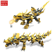 Golden Dragon Ninja Knight Fire Dragon Figures Model Brinquedo Building Blocks Sets Kids DIY Bricks Brinquedos Toys for Children 1pc the hobbits lord of the rings knight diy figures assemble model diy building blocks sets kids educational toys gift xmas