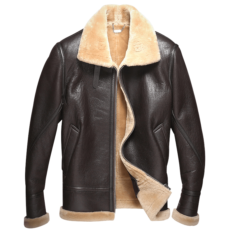 Genuine Leather Jacket Men Double-faced Fur Coat Real Fur Coat Winter Warm Jackets Parka Jaqueta G04-E6535 ZL372