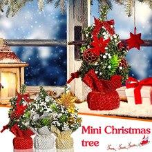 Frohe Weihnachten Baum Schlafzimmer Schreibtisch Dekoration Spielzeug Puppe Geschenk Office Home Kinder Kreative рождество новый год navidad natal 112