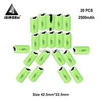 1.2V SC Ni CD 2500mAh Rechargeable Batteries Cell DIY Electric Battery Packs Subc Ni CD Accumulator Toys Flashlight