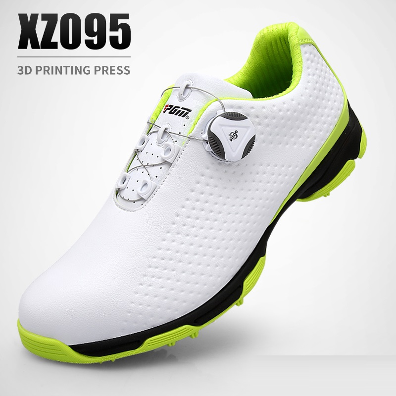 Pgm Golf Shoes Men Waterproof Sports Shoes Knobs Buckle Shoes Mesh Lining Breathable Slip Resistant Sneakers For Male Outdoor 7