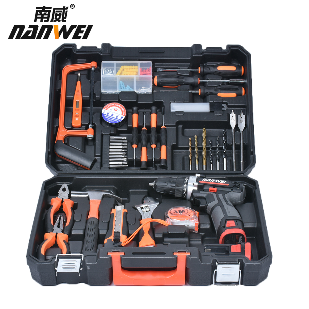 Mini Electric Cordless Screwdriver 12V Lithium-ion Rechargeable Screwdriver Power Drill Repair Tool w/ Drill Bits Kits Set