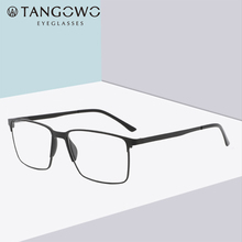 Glasses Frame Men Alloy Prescription Glasses Blue Light Glasses Myopia Glasses Square Metal Eyeglasses Men Computer Glasses cheap TANGOWO Solid P8501 FRAMES Eyewear Accessories Optical Glasses Glasses Frames Spectacle Glasses High Quality 4 Color