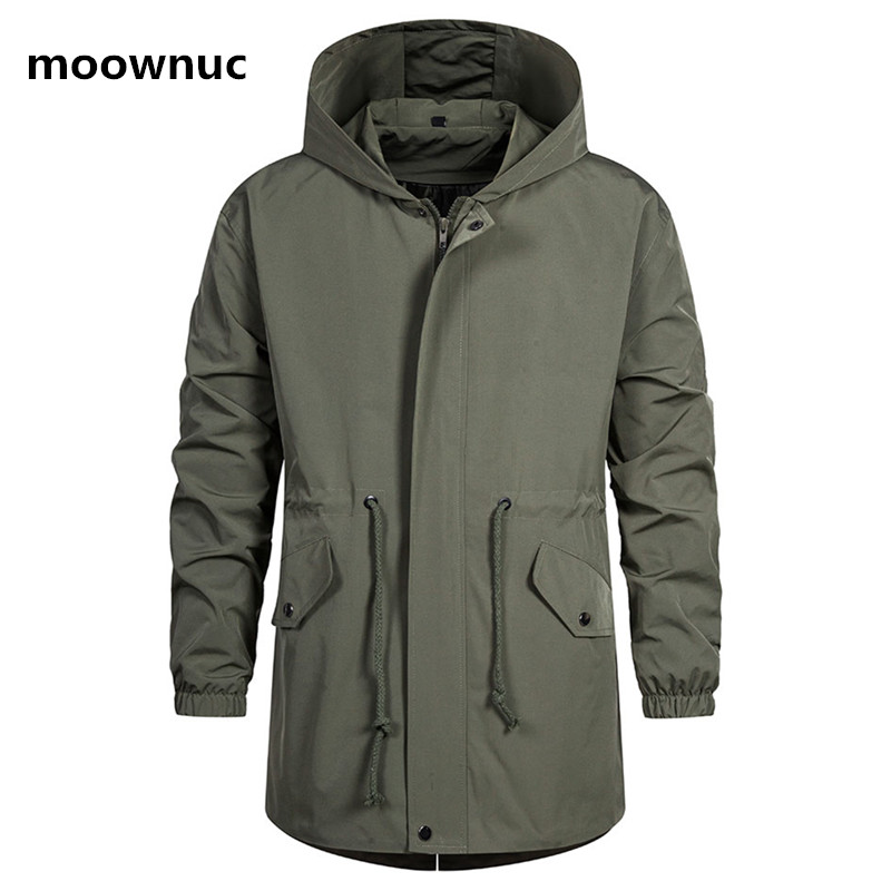 2020 New Arrival Spring Men's Hooded Windbreaker High Quality Casual Trench Coat Men,men's Fashion Jackets Size M-5XL