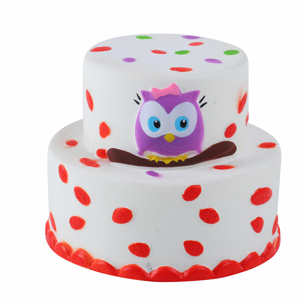 Exquisite Lovely Owl Cake Scented Slow Rising Decompression Toys Soft PU Cake Antistrees Toys Funny Christmas Gifts #B