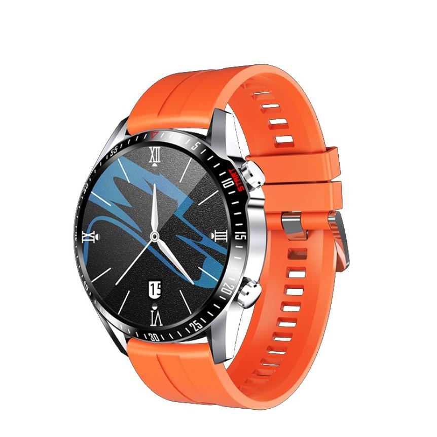 CAH20072902O_CK29 Round Thin 1.28 Screen Smart Watch Bluetooth Touch Waterproof IP67 Smart Band Call Temperature Multi-dials Smart Bracelet (10)