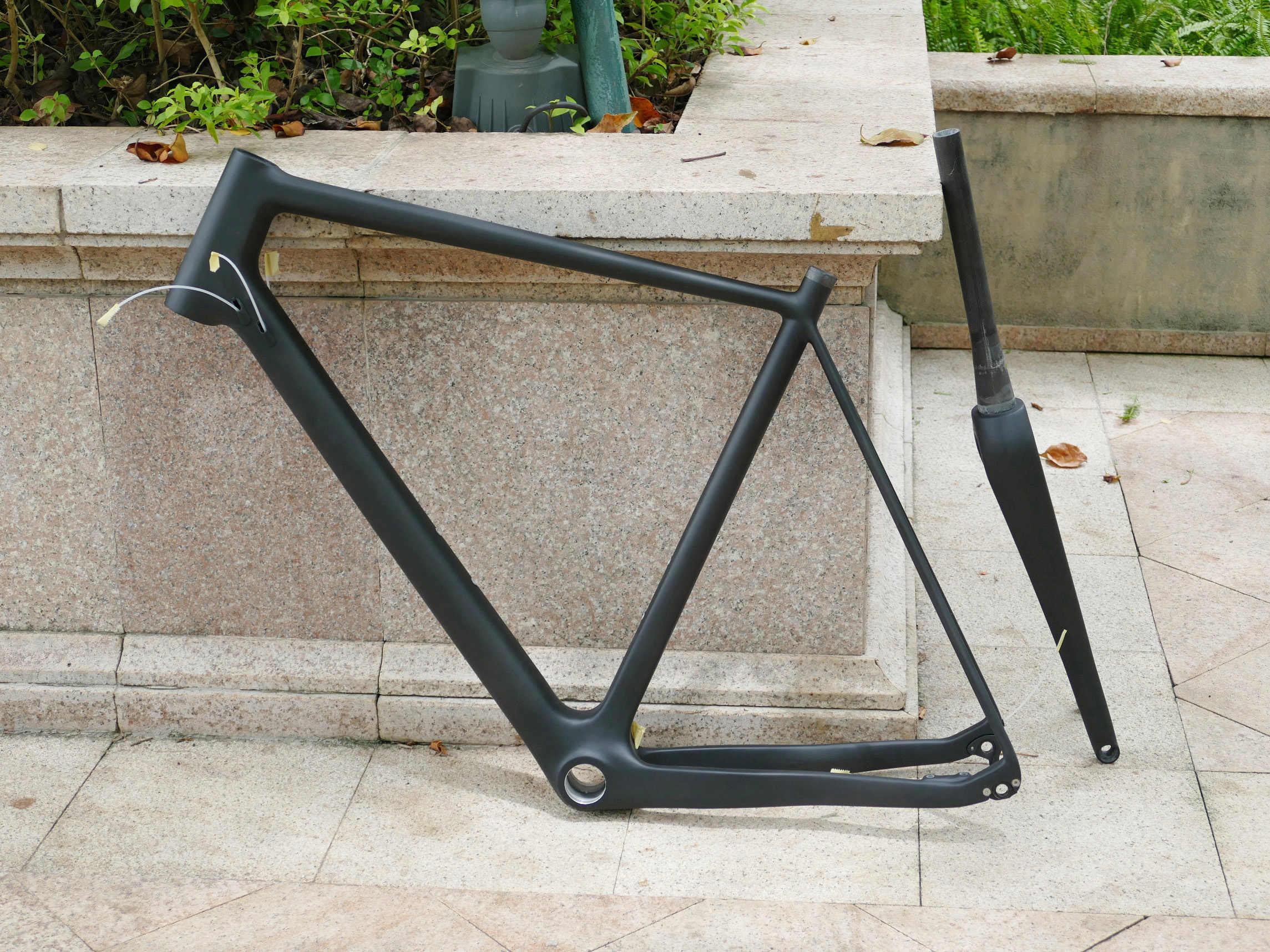 Disco de bicicleta Ciclocross mate de carbono completo freno BSA BB30 marco 12*142mm eje a través + horquilla 15 * eje a través de 100mm