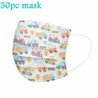 Mascarilla desechable de 3 capas con filtro para niños y niñas, máscara facial de higiene con elásticos, 50 Uds.
