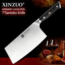 XINZUO 7'' inch Cleaver Meat Knife German 1.4116 Stainless Steel with Ebony Handle Kitchen Chef Knives Brand Cooking Tools(China)