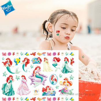 Hasbro Children Cartoon Mermaid Princess Temporary Tattoo Sticker Novelty Cosplay Toys for Princess SWhite Party Funny Sticker princess poppy mermaid princess