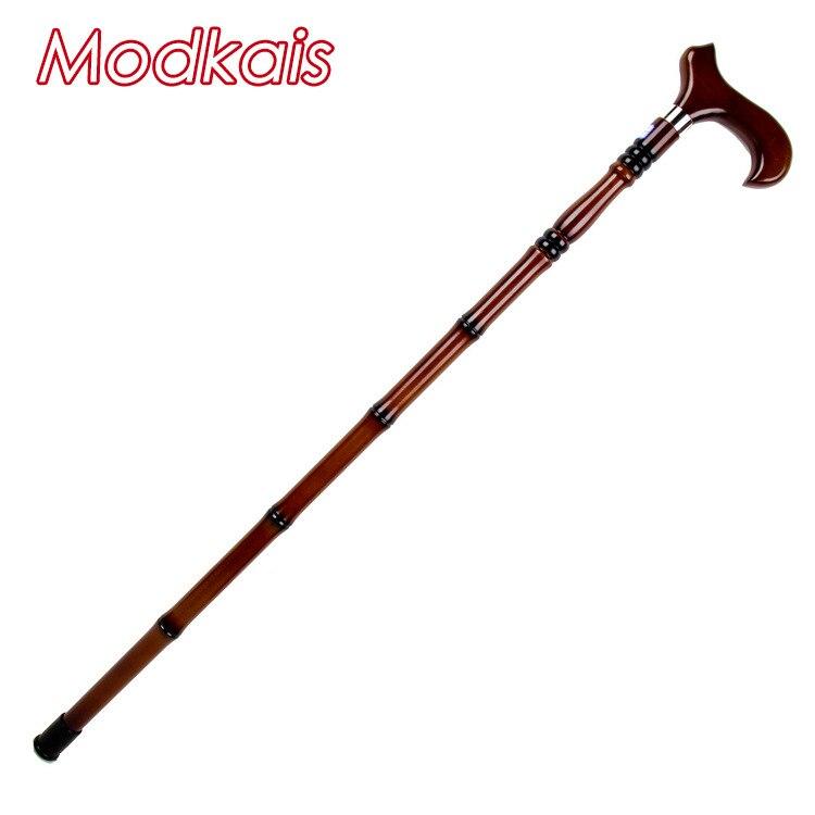 Elderly Solid Wood Head Crutches Red Wood Leading Old Man Wand Travel Anti-slip Wand