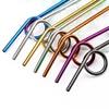 Kit 2 pailles looping inox toutes les couleurs