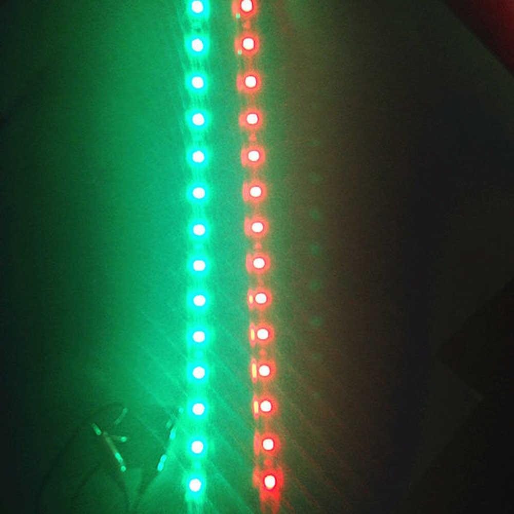 2Pcs Merah/Hijau LED Lampu Navigasi Strip Tahan Air Mobil Kapal Laut Perlengkapan