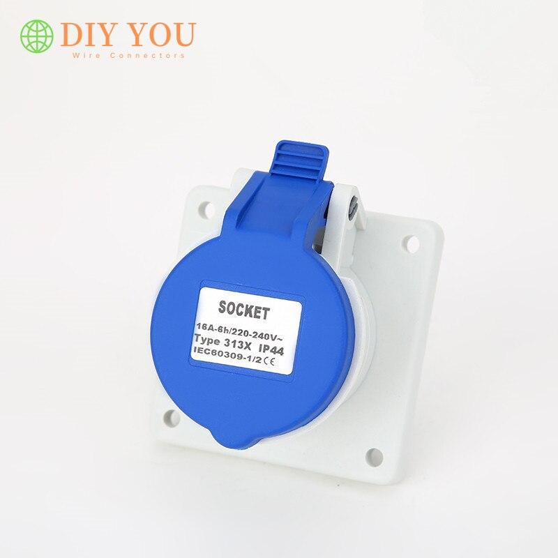 Купить 32a 3 контактный 220 в 240 ip44 2p + e электрический водонепроницаемый