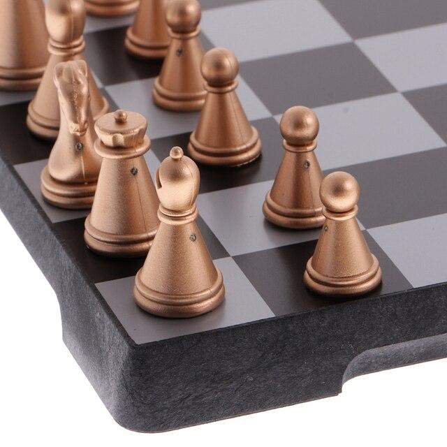 Jeu d'échecs de voyage magnétique avec échiquier pliant jouets éducatifs durables 1