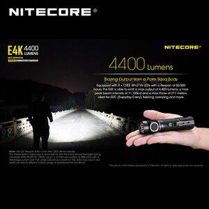 Image 4 - Yeni nesil NITECORE E4K 4400 lümen 4 x CREE XP L2 V6 led 21700 kompakt EDC el feneri ile 5000mAh Li ion pil