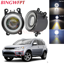 2pcs NEW Car styling Angel Eyes front bumper LED fog Lights with len For Mitsubishi Outlander XL 2007-2013