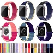 цена на nylon strap For Apple Watch band 44mm 40mm sport loop iwatch bands 5 42mm 38mm for apple watch 4 3 2 breathable nylon watchband
