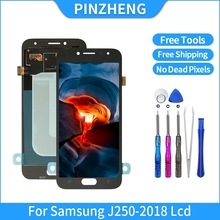 PINZHENG 100% Original LCD For Samsung Galaxy J2 Pro 2018 J250 J250F LCD OLED Display Touch Screen Digitizer Assembly Display