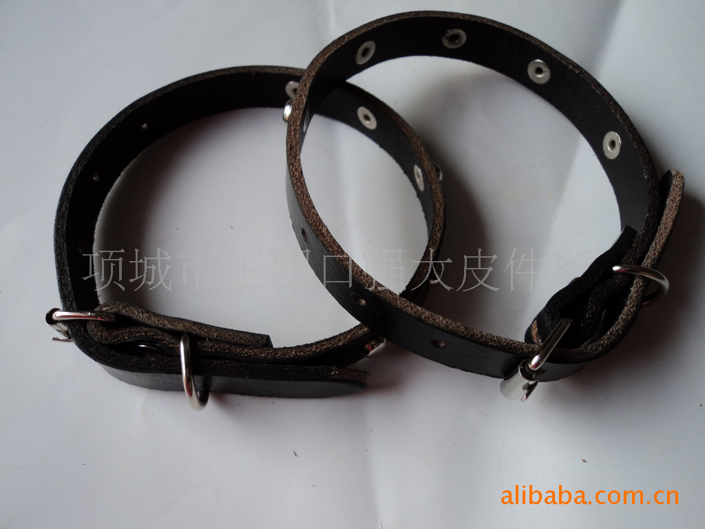 [Small Black-] 10 Yuan Genuine Leather Neck Ring Cow Leather Collar Dog Neck Ring