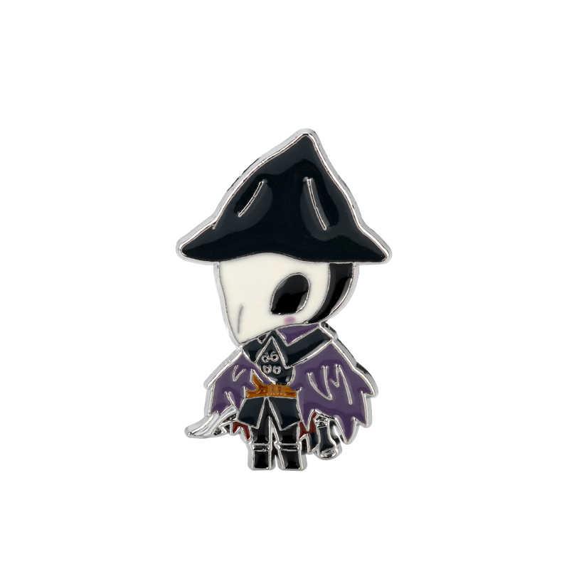 Juego llavero de sangre Hunter llavero de Metal esmaltado para hombres broches de dibujos animados cazador joyería regalo de Halloween-50