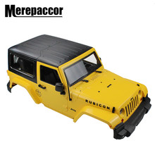 Merepaccor 1/10 Rc Afstandsbediening Truck Hard Body Shell Luifel Rubicon Topless Voor SCX10 D90(China)