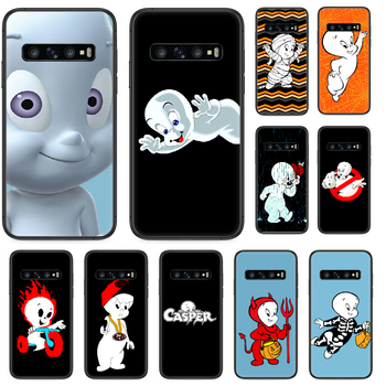 Cartoon Casper cute genius Phone case For Samsung Galaxy Note S 8 9 10 20 Plus E Lite Uitra black cell cover silicone waterproof image