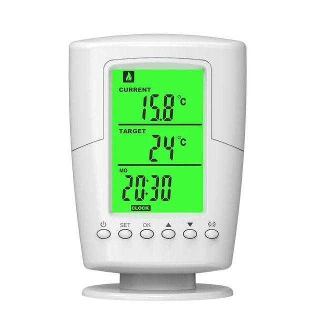 Contrôleur de prise de Thermostat Programmable sans fil fonction de chauffage et de refroidissement avec télécommande + rétroéclairage LCD prise ue