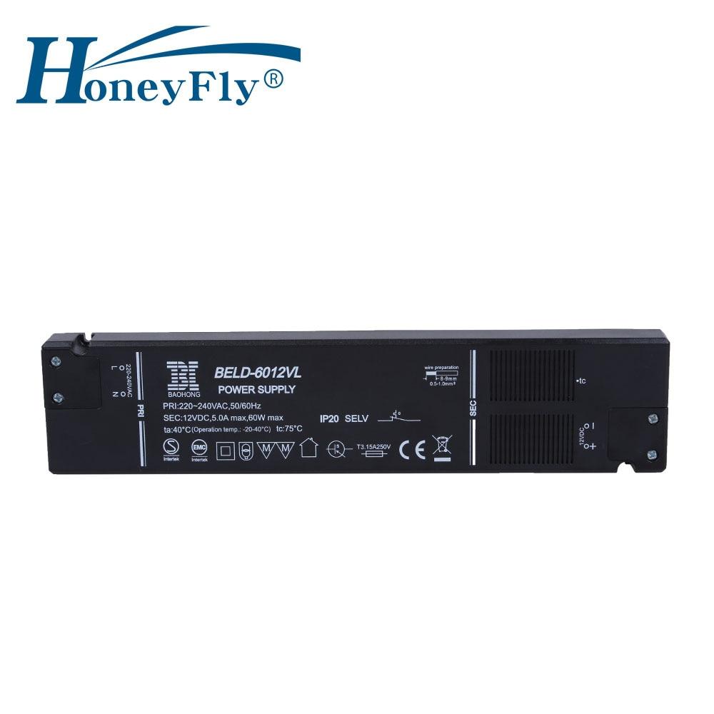 HoneyFly 3 st Super Slim LED Driver 60W AC110-250v 12V / 24V konstant - Belysningstillbehör