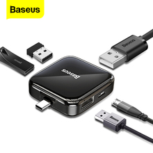 Baseus Type C HUB 2.0 Multi 4 in 1 USB Port Hab Expander Splitter USB HUB Adapter with Micro for PC Laptop Computer Accessories