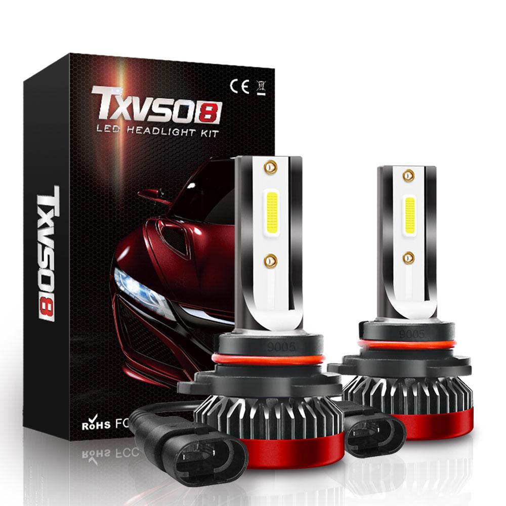 TXVSO8 COB HB3 Led 12V Car Headlights 6000K White Light 40W/Bulb Universal Mini Diode 9005 Lamps 8000LM Ampoule Led Voiture 2020