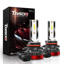 Txvso8 cob hb3 led 12v faróis do carro 6000k luz branca 40w/bulbo universal mini diodo 9005 lâmpadas 8000lm ampola led voiture 2020
