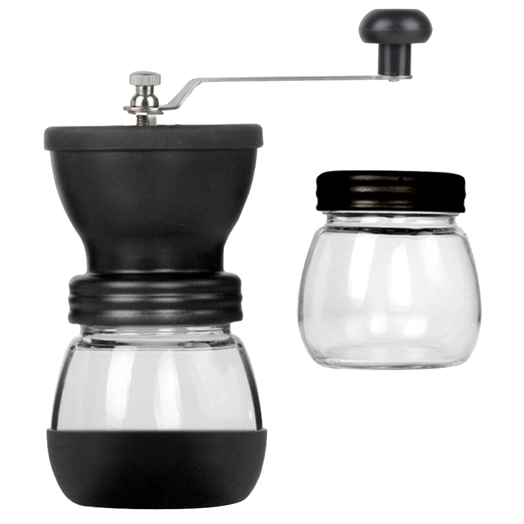 Ceramic Burr Manual Coffee Grinder Adjustable Hand Crank Coffee Beans Mill