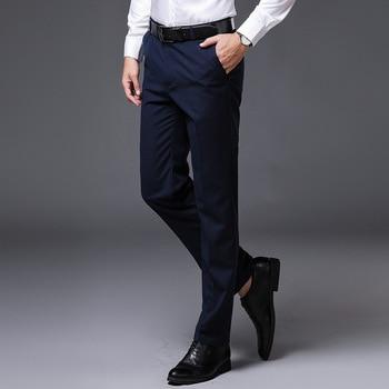 Fashion Mens Pants 2020 New Business Formal Suit Pants Brand Slim Trousers Men Wedding Party Skinny Stretch Dress Pants