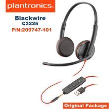 Plantronicsブラックワイヤーc3225 USB Aヘッドセット、オンイヤーモノヘッドセット、有線209747 101