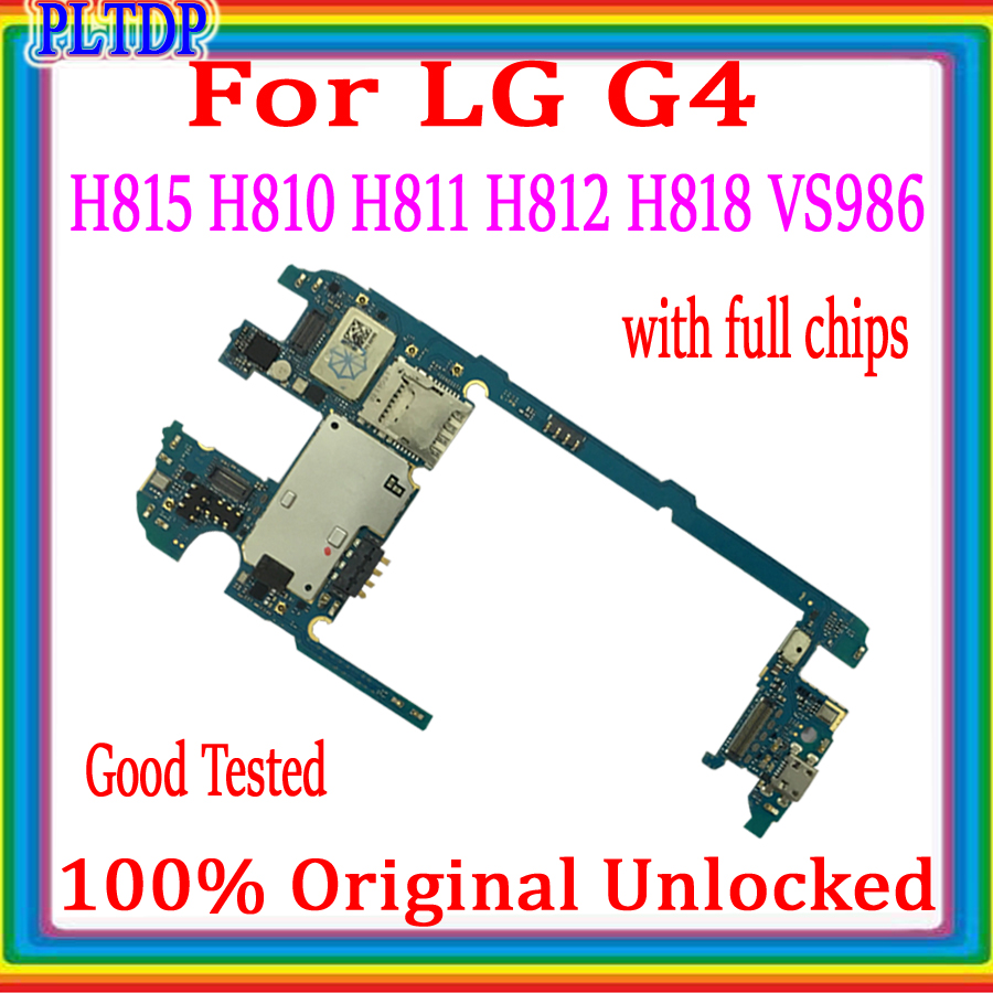 Factory unlock For <font><b>LG</b></font> G4 <font><b>H815</b></font> H810 H811 H812 H818 VS986 <font><b>Motherboard</b></font> 32gb, 100% Original For <font><b>LG</b></font> <font><b>H815</b></font> with full chips Logic board image